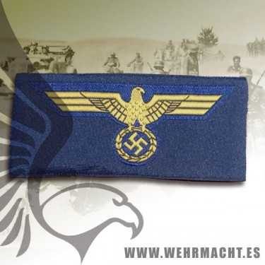 Kriegmarine enlisted mans silk woven breast eagle